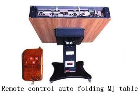 Remote control foldable auto MJ table